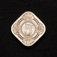 5 Cent 1943 Netherlands
