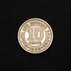 10 CENTS 1953 British Borneo