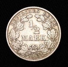 1/2 Mark 1913 J Deutsches Reich