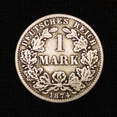 1 Mark 1874 B Kleiner Adler