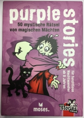 black stories | Junior purple stories | 50 mystische Rätsel | Das Rätsel Kartenspiel für Kinder |Verlag moses