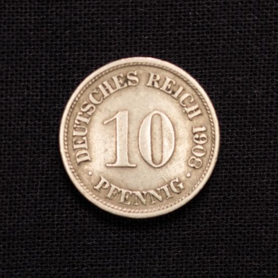 10 Pfennig 1908 F Deutsches Reich