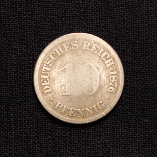10 Pfennig 1876 D Deutsches Reich