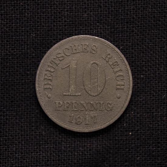 10 Pfennig 1917 Deutsches Reich Rarität
