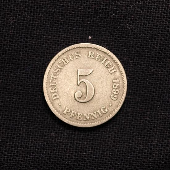 5 Pfennig 1899 J Deutsches Reich