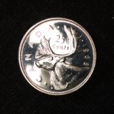 25 Cent 1968 Kanada Canada Spiegelglanz