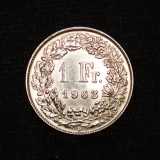 1 Franken 1963 B Switzerland