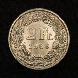 2 Franken 1969 B Switzerland