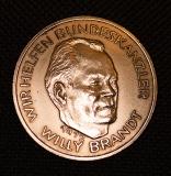 Wir helfen Bundeskanzler Willi Brand 1972 Kupfer