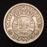 20 Escudos Mocambique 1955 Portugal