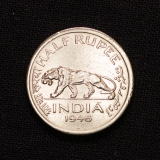Half Rupee 1946 Indien