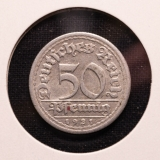 50 Pfennig 1921 G German