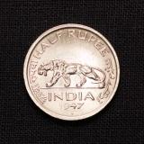 Half Rupee 1947 Indien