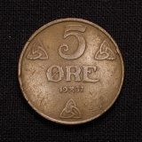 5 Öre 1937 Norwegen
