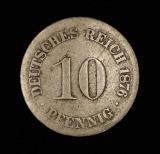 10 Pfennig 1876 D Deutsches Reich kleiner Adler  SG