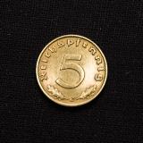 5 Reichspfennig 1939 J