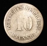 10 Pfennig 1875 Deutsches Reich kleiner Adler  SG
