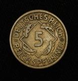 5 Reichspfennig 1936 A Deutsches Reich