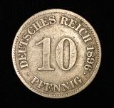 10 Pfennig 1896 E Deutsches Reich großer Adler  SG