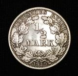 1/2 Mark 1919 A Deutsches Reich