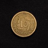 10 Rentenpfennig 1924 F Deutschland