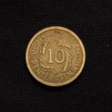 10 Rentenpfennig 1924 F Germany