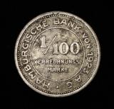 1/100 Verrechnungsmarke Hamburger Bank von 1923 AG