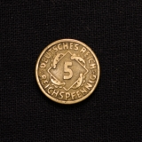 5 Reichspfennig 1925 F Germany