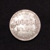 200.000 Mark 1923 J Freie und Hansestadt Hanburg Notgeld (Rarität)