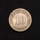 10 Pfennig 1888 A Deutsches Reich (Rarität)
