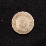 5 Pfennig 1874 F Deutsches Reich