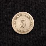 5 Pfennig 1874 B Deutsches Reich