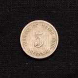 5 Pfennig 1900 J Deutsches Reich