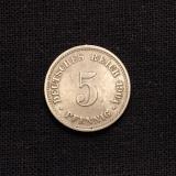 5 Pfennig 1901 D Deutsches Reich