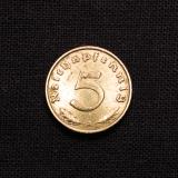 5 Reichspfennig 1938 A Deutsches Reich