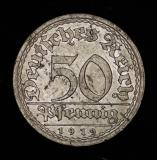 50 Pfennig 1919 A Deutsches Reich
