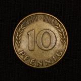 10 Pf 1950 F Germany