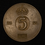 5 Öre 1954 Schweden