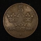 5 Öre 1920 Schweden