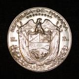 1/2 Balboa 1933 Panama Medio