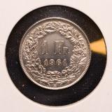 1 Franken 1961 B Switzerland